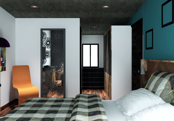 Arq. Rodrigo Culebro Sánchez Modern style bedroom