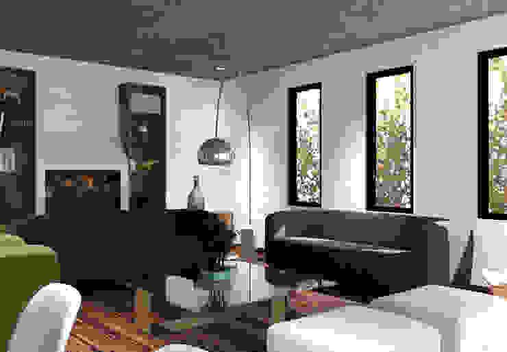 Arq. Rodrigo Culebro Sánchez Modern living room