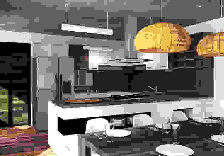 Arq. Rodrigo Culebro Sánchez Modern kitchen