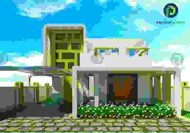 Prithvi Homes Ingresso, Corridoio & Scale in stile asiatico