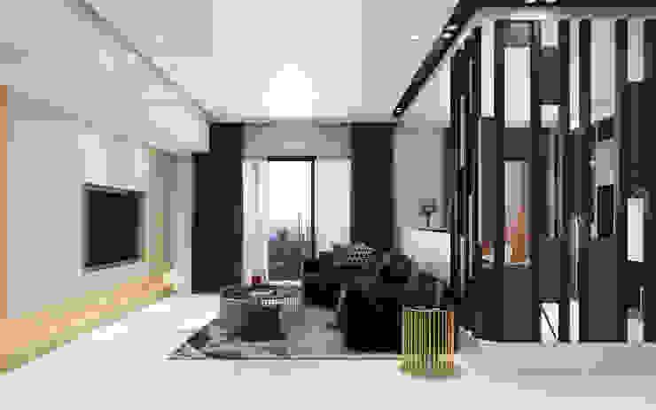 客廳區 现代客厅設計點子、靈感 & 圖片 根據 木博士團隊/動念室內設計制作 現代風