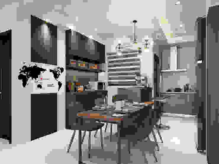 餐廚區 根據 木博士團隊/動念室內設計制作 現代風