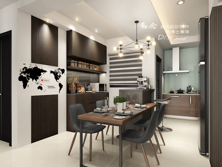 Study/office by 木博士團隊/動念室內設計制作, Modern