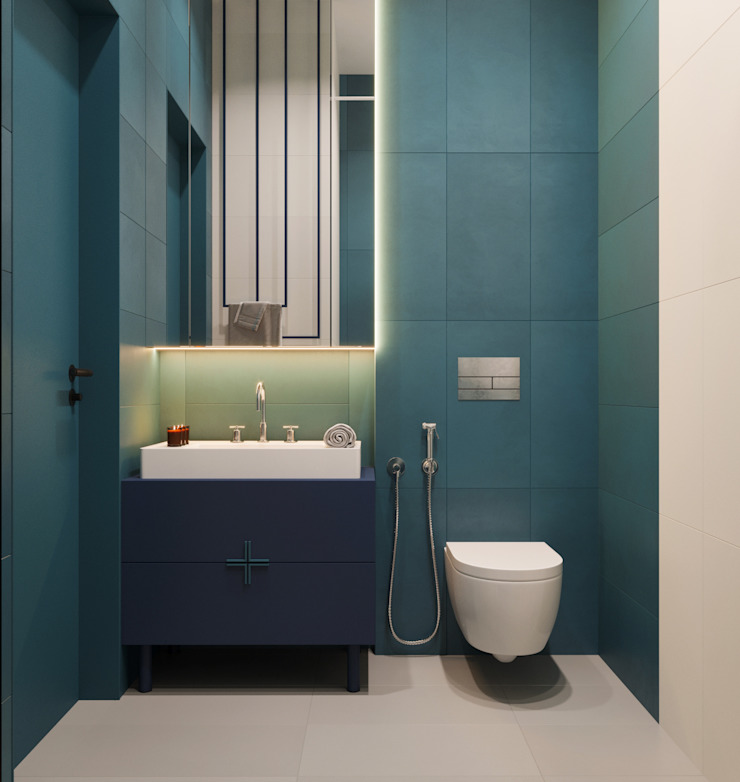 Minimalist bathroom by Suiten7 Minimalist Ceramic