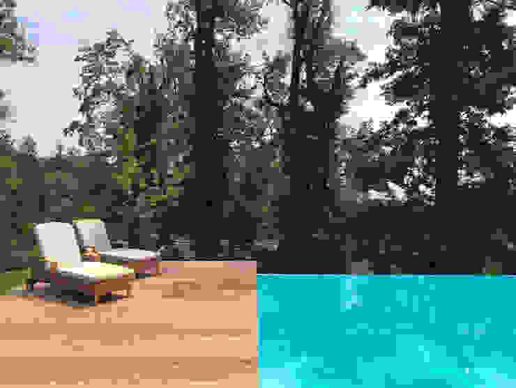 Holzdeck und Infinity Pool:  Infinity pool von Kirchner Garten & Teich GmbH,
