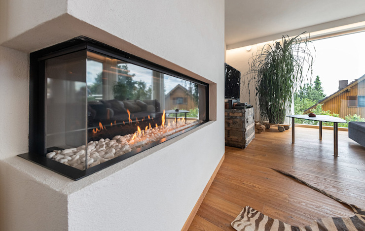 现代客厅設計點子、靈感 & 圖片 根據 AL ARCHITEKT - in Wien 現代風