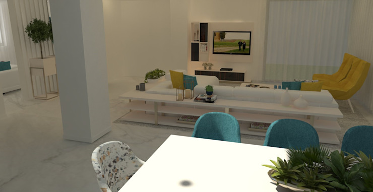 Mobiliário: A intemporalidade dos tons neutros! Salas de estar modernas por Casactiva Interiores Moderno