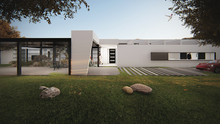 Acceso Casas de estilo minimalista de Sebastian Ginsberg Arquitecto Minimalista