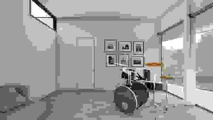 Sala Multiuso Salas multimedia de estilo minimalista de Sebastian Ginsberg Arquitecto Minimalista