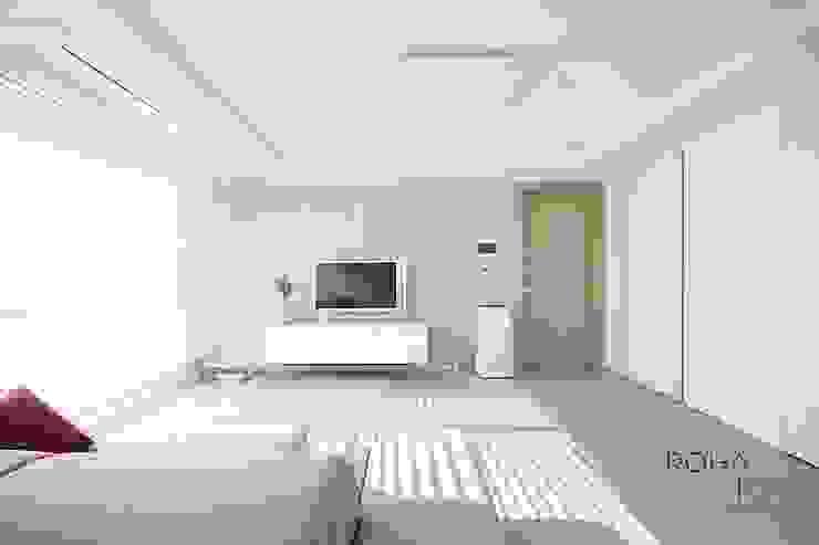 부산 전망 좋은 해운대 아파트 인테리어 모던스타일 거실 by 로하디자인 모던