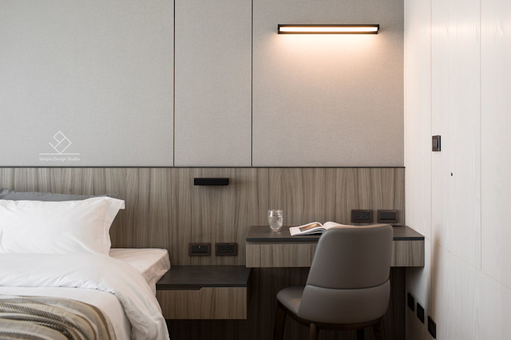 主臥書桌/化妝台 根據 極簡室內設計 Simple Design Studio 現代風