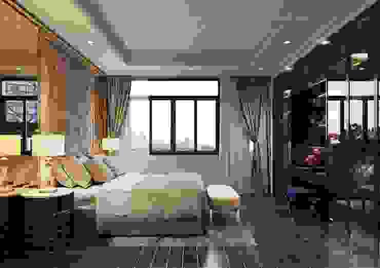 Thiết kế Biệt thự phong cách Đông Dương: KHI THIẾT KẾ LÀ LỜI TỰ SỰ Phòng ngủ phong cách châu Á bởi ICON INTERIOR Châu Á