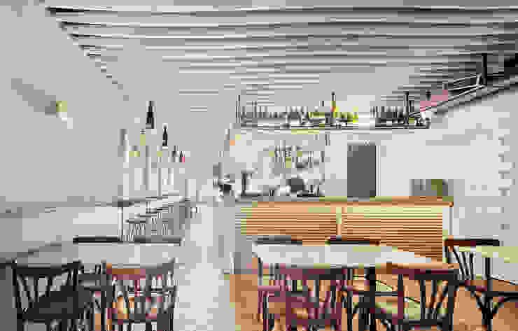 Restaurante La Mar de Fons de Piedra Papel Tijera Interiorismo Mediterráneo