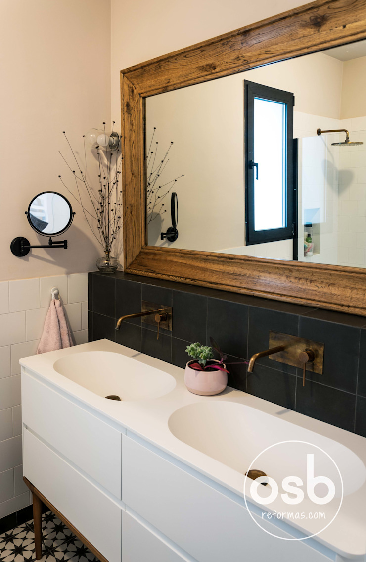 Country style bathroom by osb arquitectos Country