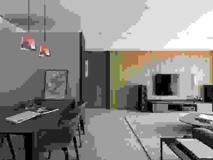 曙光 现代客厅設計點子、靈感 & 圖片 根據 工聚室內設計 現代風