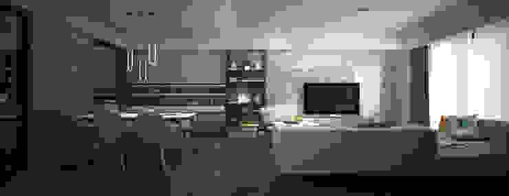 新觀 现代客厅設計點子、靈感 & 圖片 根據 工聚室內設計 現代風
