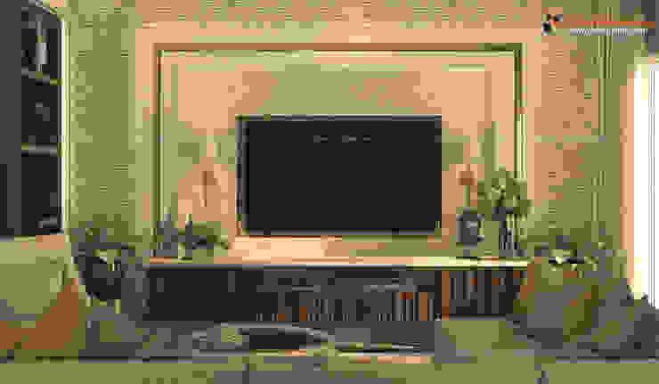 1st Floor TV Unit for Family Room Modern living room by Fabmodula Modern