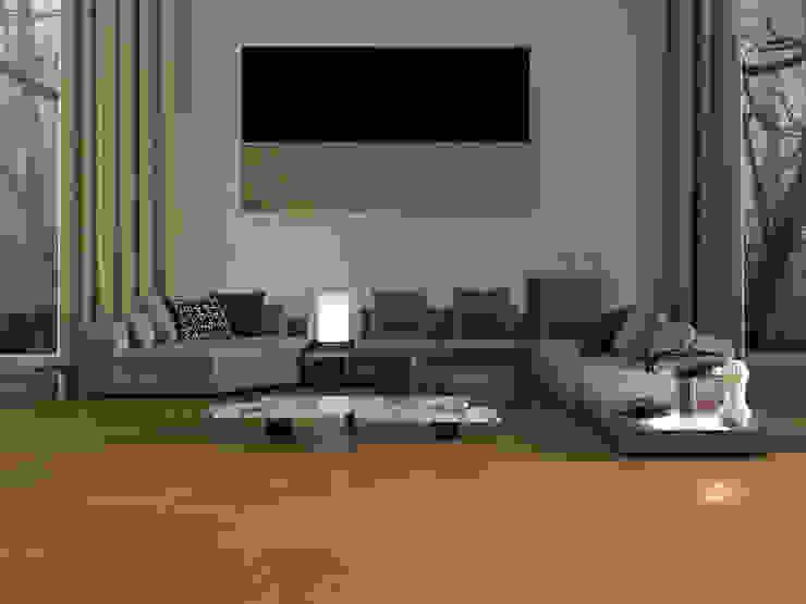 Sala de estar con piso estilo mármol Salas de estilo moderno de Interceramic MX Moderno Cerámico