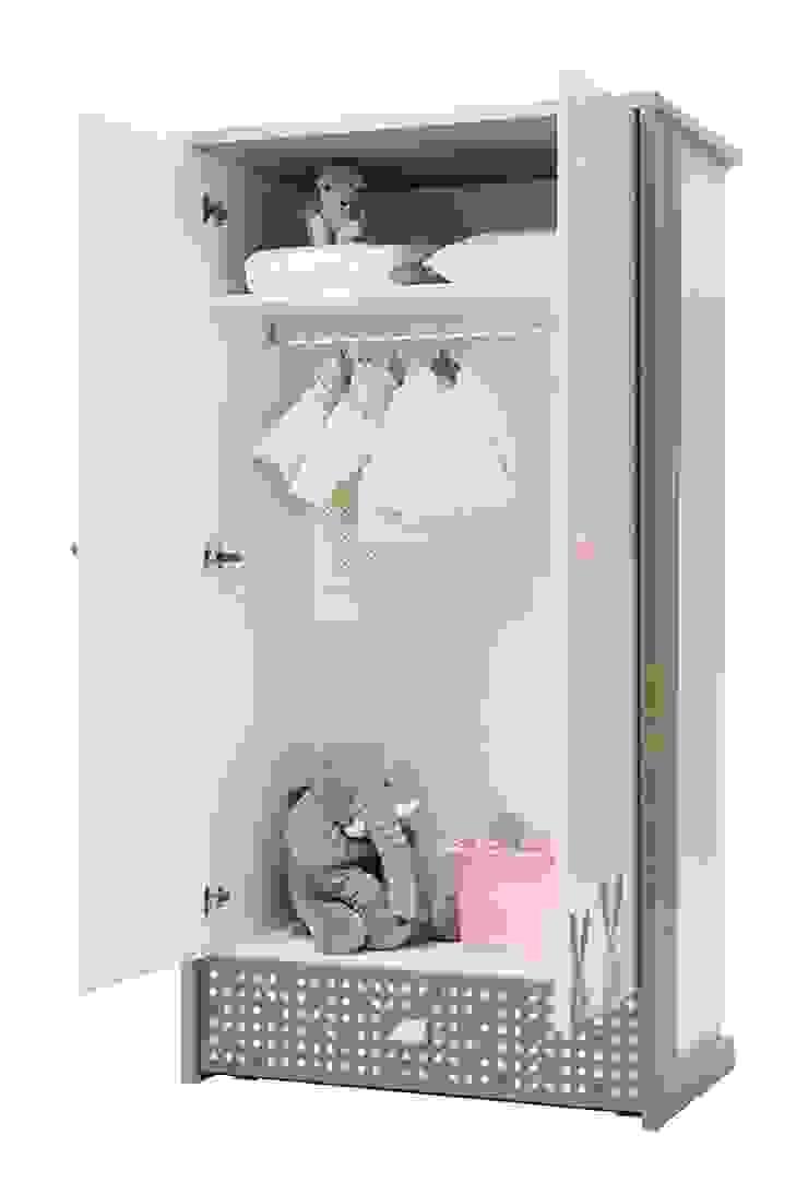 اثاث مصر ห้องนอนเด็กตู้เสื้อผ้า แผ่นไม้อัด Pink