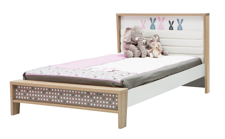 اثاث مصر ห้องนอนเด็กเตียงเด็กและเปลเด็ก แผ่นไม้อัด Pink