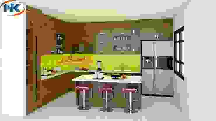 Mẫu tủ bếp sồi nga hiện đại nhất 2019 tại Nguyễn Kim bởi Nội thất Nguyễn Kim