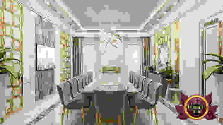 Dining Room Elegance By Female Designer by Luxury Antonovich Design
