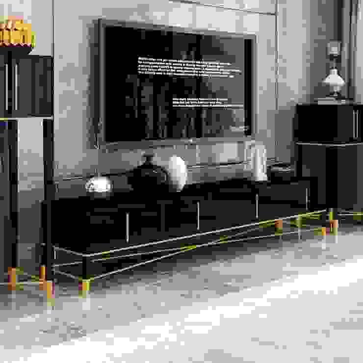 ตู้ทีวี Luxury: ทันสมัย  โดย COMMANS FURNITURE, โมเดิร์น ไม้ Wood effect