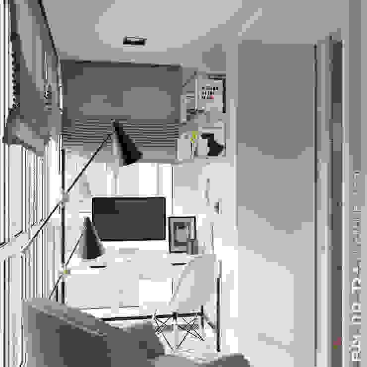 Балкон совмещенный со спальней от Fusion Dots Эклектичный