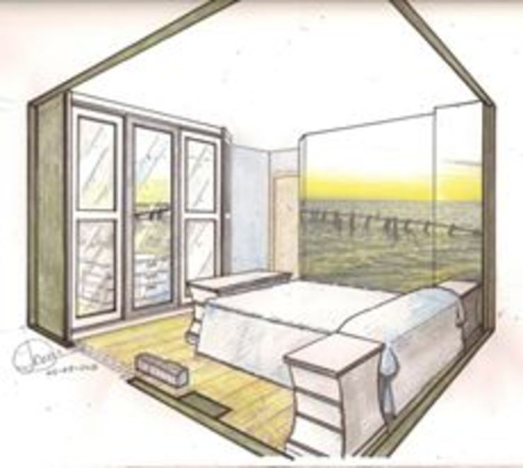 Boceto de dormitorio juvenil de Clarion - acotrazio d'interiors S.L.U Moderno