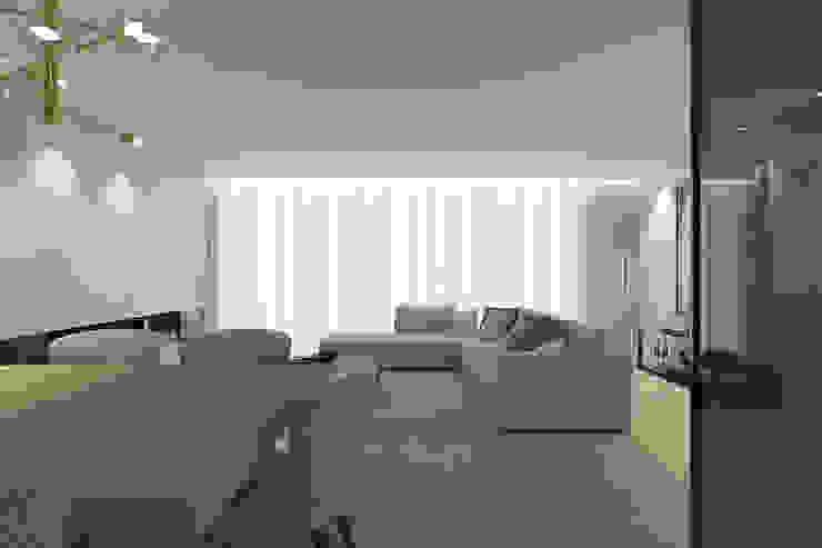 Da sala de jantar para o sofá 411 - Design e Arquitectura de Interiores Salas de estar modernas