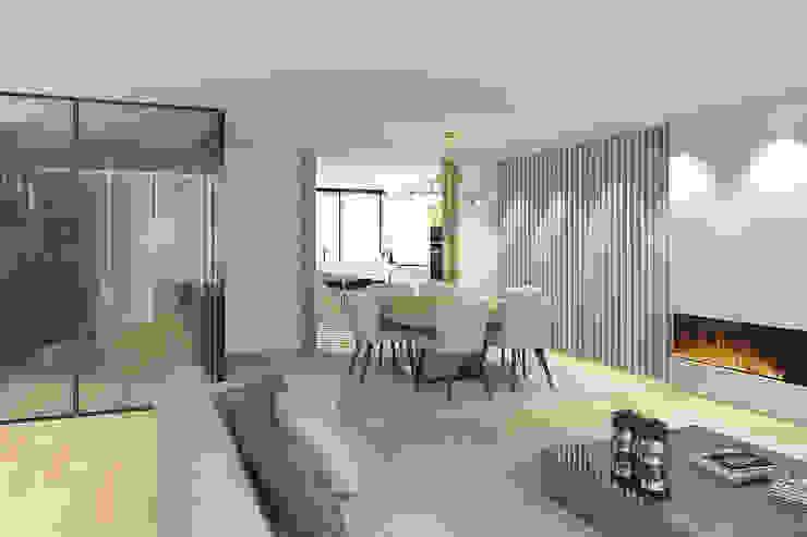 Da sala para a cozinha 411 - Design e Arquitectura de Interiores Salas de jantar modernas