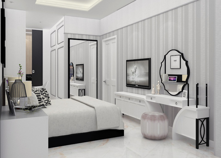 DSL Studio BedroomAccessories & decoration Dệt may White