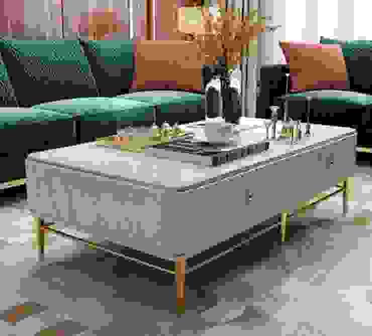 โต๊ะกาแฟท็อปหินอ่อนแท้: ทันสมัย  โดย COMMANS FURNITURE, โมเดิร์น ไม้จริง Multicolored