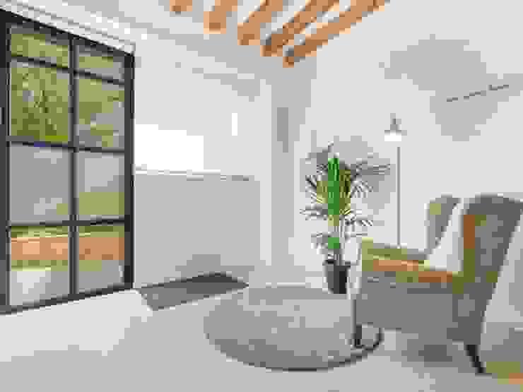 Cambio de uso de local a vivienda, Palma centro Pasillos, vestíbulos y escaleras de estilo industrial de ESTUDI 353 ARQUITECTES SLPU Industrial