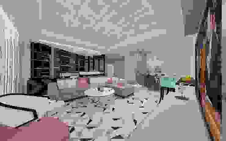 Living room Ruang Keluarga Modern Oleh DSL Studio Modern Parket Multicolored