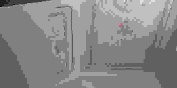 Das fertige Motiv schmückt das Treppenhaus: Werte erhalten – Werte gestalten ab-design GmbH Mediterranes Messe Design