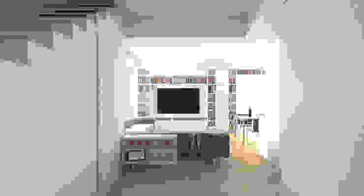 DUOLAB Progettazione e sviluppo Modern corridor, hallway & stairs White