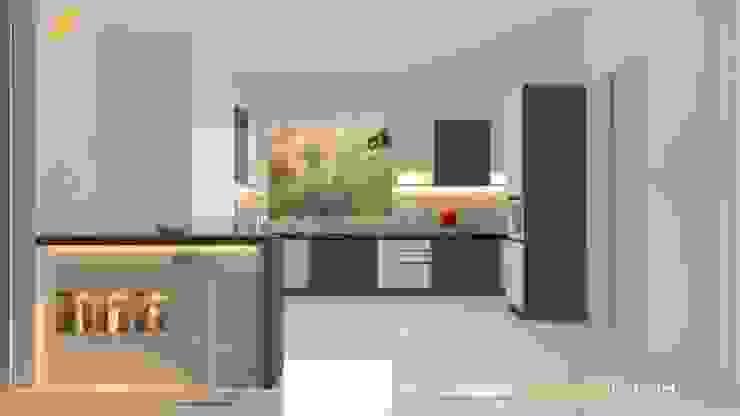 Modular Kitchen:  Kitchen units by Vadhia Interiors Pvt Ltd,Modern