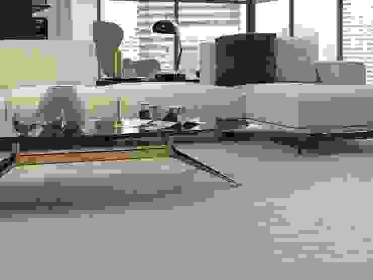 Salas con psio estilo madera Salas de estilo moderno de Interceramic MX Moderno Cerámico
