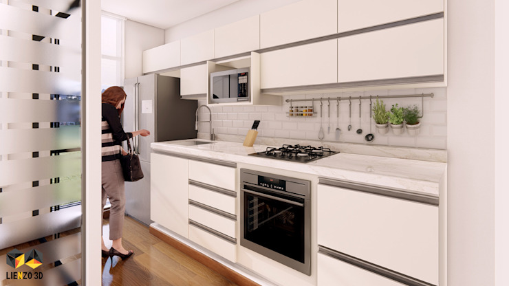 Espacio interior: Cocina de Lienzo 3D