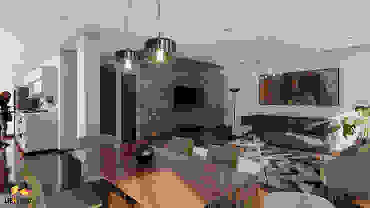 Espacio interior: Sala / comedor de Lienzo 3D