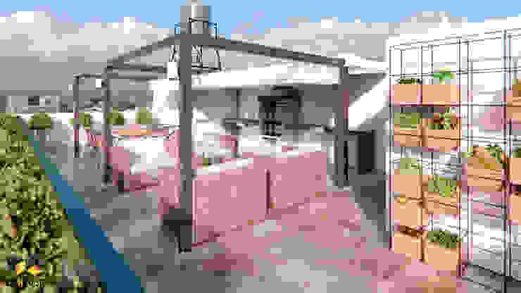 Espacio exterior: terraza común de Lienzo 3D