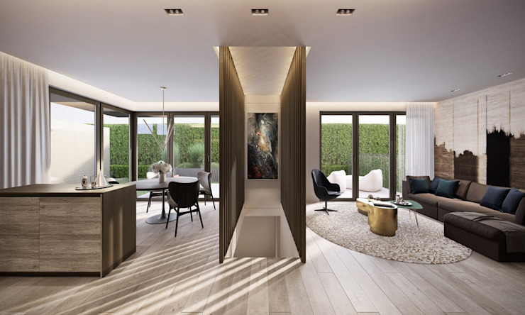 Diseño y Dotación Dormitorios de estilo ecléctico de De Stefano Disegno Ecléctico