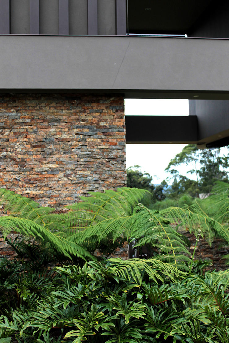 CASA C4 Casas modernas de BASSICO ARQUITECTOS Moderno Piedra