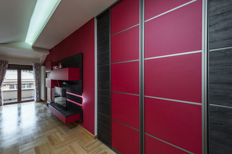Modern Pink Sliding Door Wardrobes London de Metro Wardrobes London Moderno