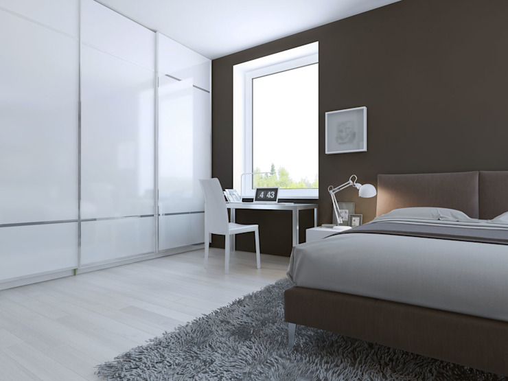 White Gloss Sliding Door Wardrobes London de Metro Wardrobes London Moderno
