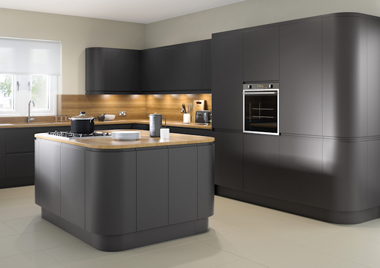 Lucente Matt Anthracite Fitted Kitchens London de Metro Wardrobes London Moderno