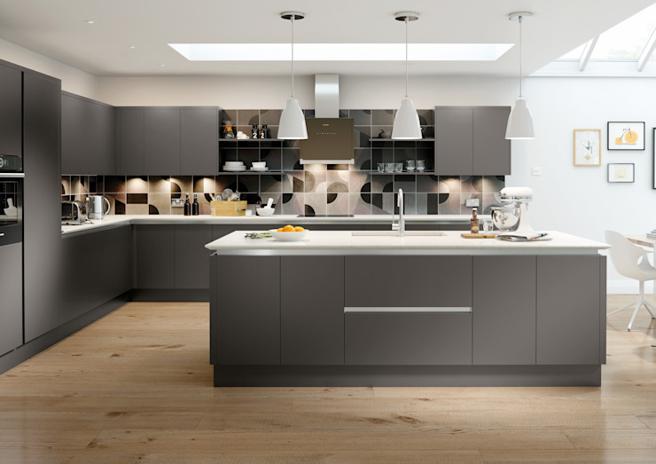 Vivo Matt Anthracite Fitted Kitchens London de Metro Wardrobes London Moderno