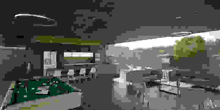 21arquitectos Salones de estilo minimalista