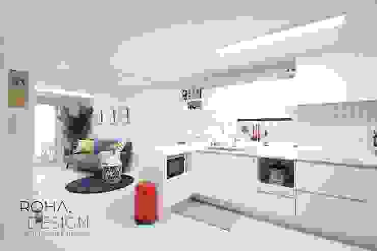 부산 신혼집 인테리어 – 24평 아파트 인테리어 스칸디나비아 다이닝 룸 by 로하디자인 북유럽